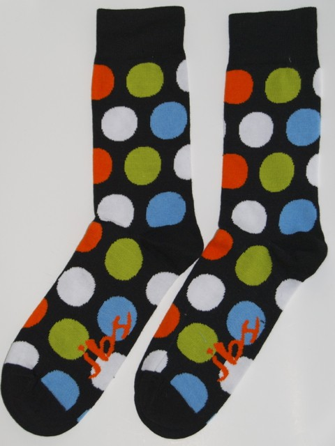 Green Orange Polka Dot Socks