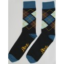 Light and Dark Green & Grey Colored Argyle socks