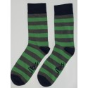 Green & Grey Colored Striped Socks