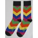 Pink, Yellow, Blue Arrow Pattern Socks