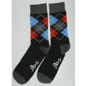 Red/grey Colored Argyle Socks