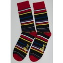 Red & Yellow Striped Socks gets your feet on fire