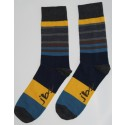 Yellow, Green, and Grey Colored Striped Socks