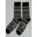 Yellow, Red, Green Striped Socks