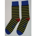 Black with Medium Yellow Stripes