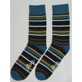 Thin Green Yellow Striped Socks